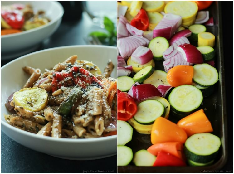 Pasta With Roasted Summer Vegetables And Basil Recipe ...