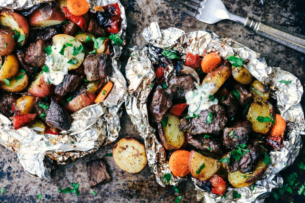 Butter Garlic Herb Steak Packets