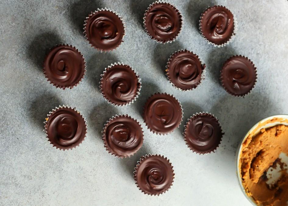 Dark Chocolate Pumpkin Coconut Butter Cups