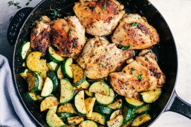 Butter Garlic Herb Chicken with Zucchini