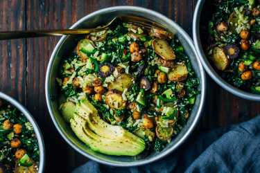 Kale Salad with Pesto
