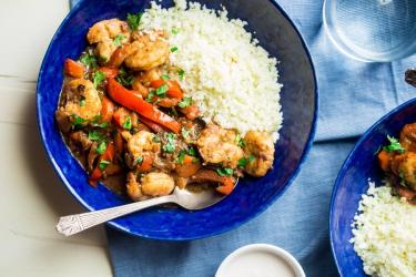 Jerk Shrimp Stew with Cauliflower Rice